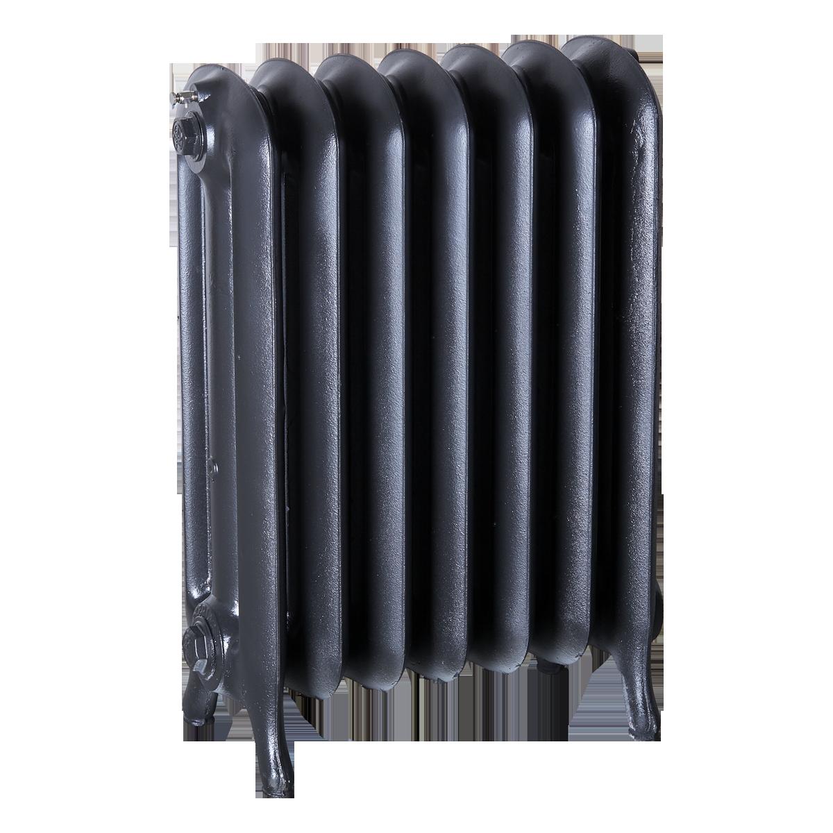 Ironworks Radiators Inc. refurbished cast iron radiator Eglinton in Black