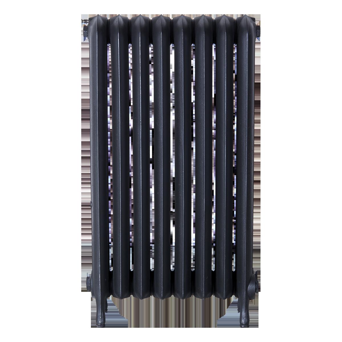 Ironworks Radiators Inc. refurbished cast iron radiator Glendonwynne in black