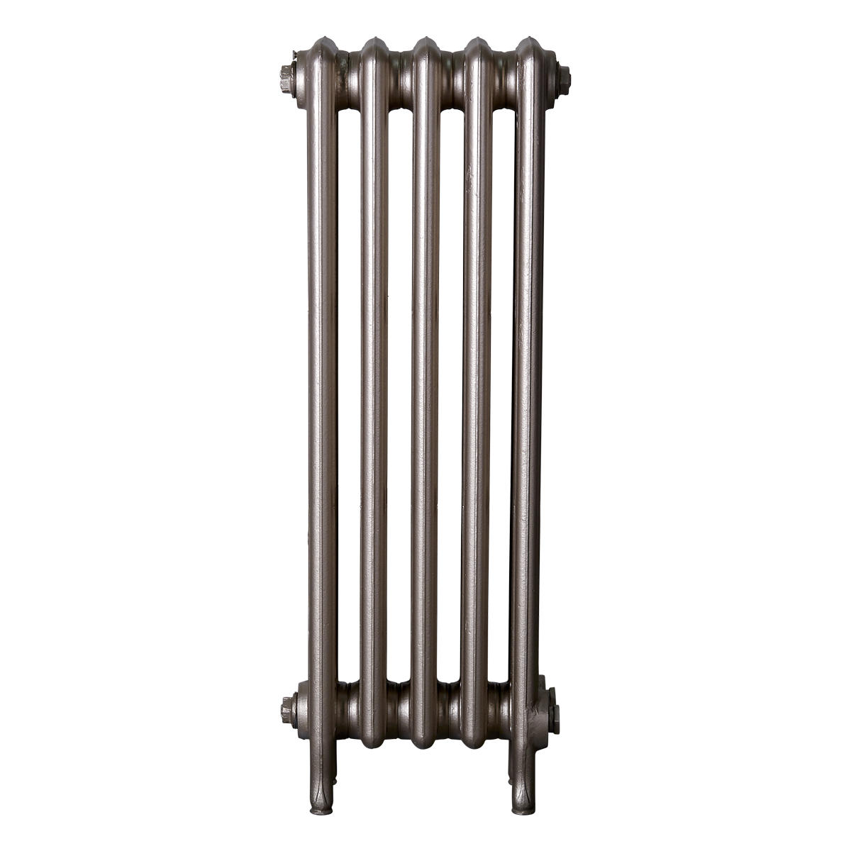 Ironworks Radiators Inc. refurbished cast iron radiator Gloucester in warm silver