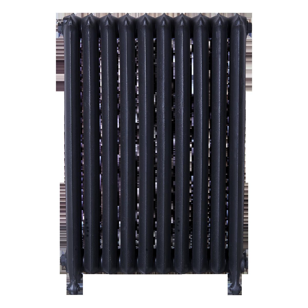 Ironworks Radiators Inc. refurbished cast iron radiator Princess Anne in Black