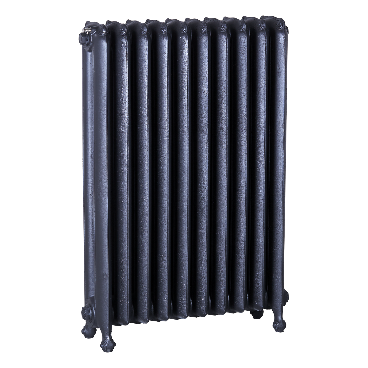 Ironworks Radiators Inc. refurbished cast iron radiator Princess Anne in Black