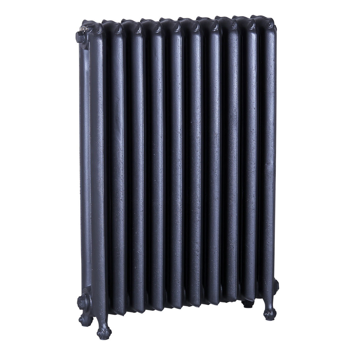 Ironworks Radiators Inc. refurbished cast iron radiator Princess Margaret in Black
