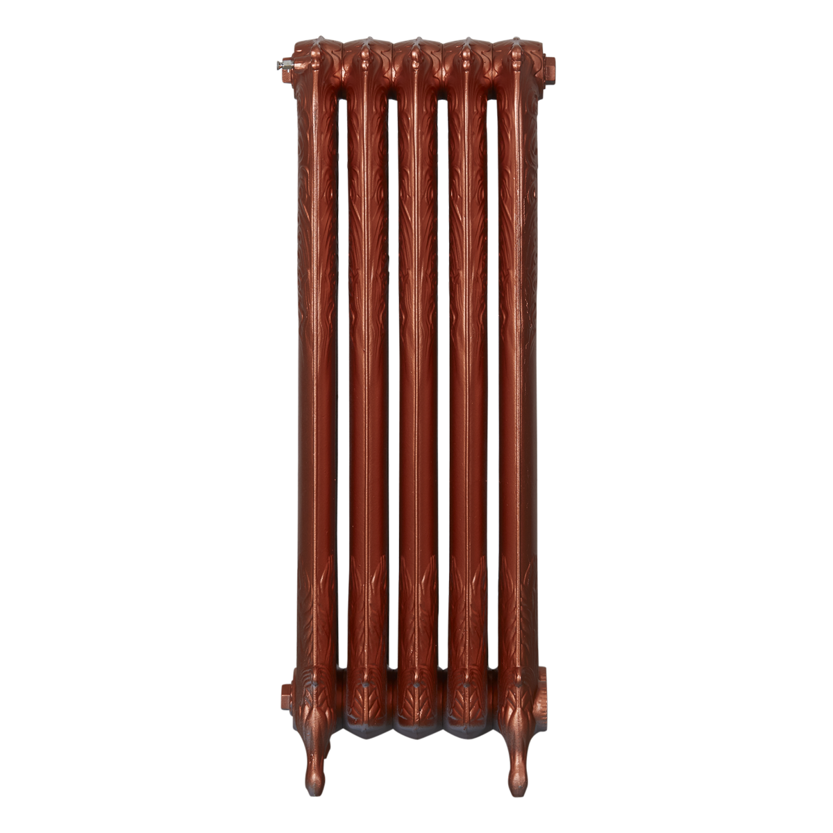 Ironworks Radiators Inc. refurbished cast iron radiator Batawa in Copper Metallic