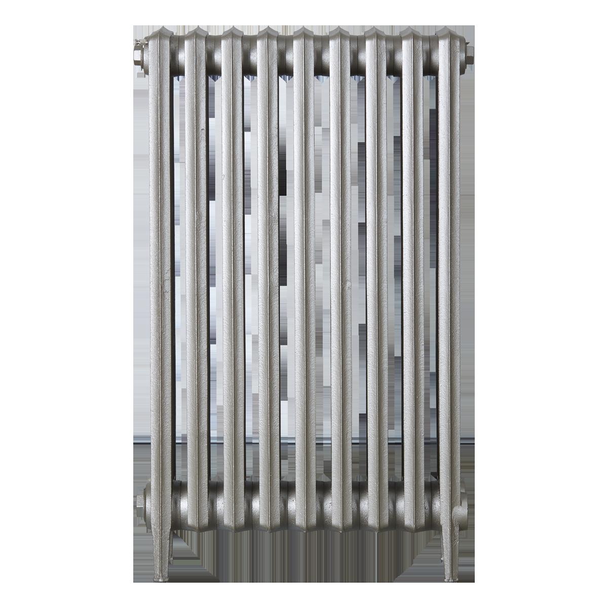 Ironworks Radiators Inc. refurbished cast iron radiator Fairlawn in Nickel Metallic