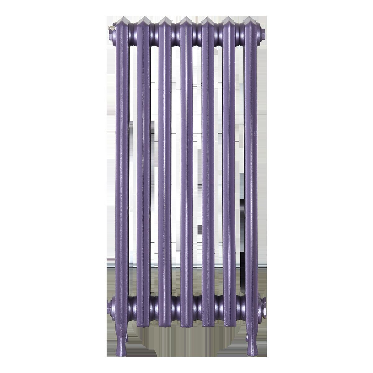 Ironworks Radiators Inc. refurbished cast iron radiator Alhart in Lilac metallic