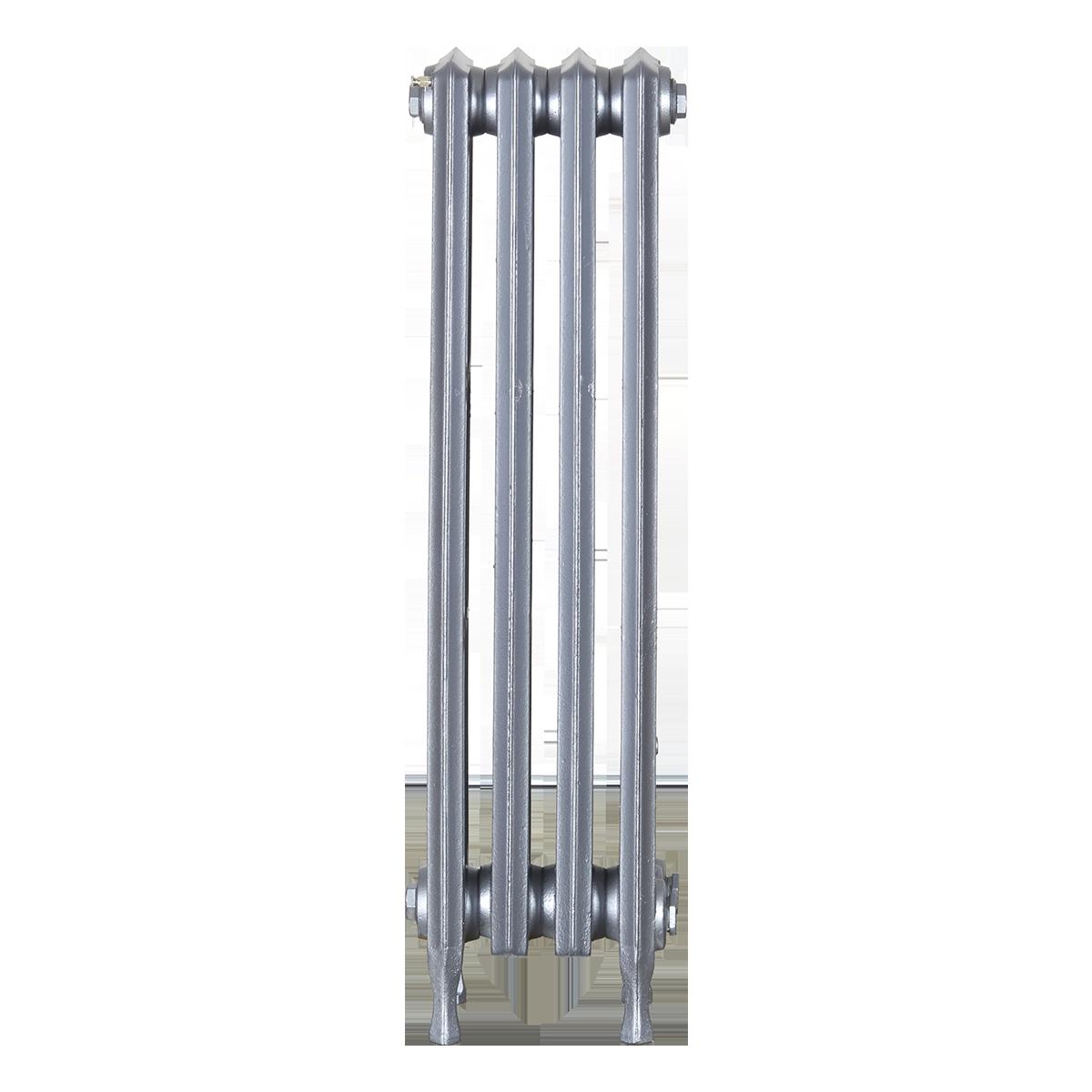 Ironworks Radiators Inc. refurbished cast iron radiator Scottfield in Pewter metallic