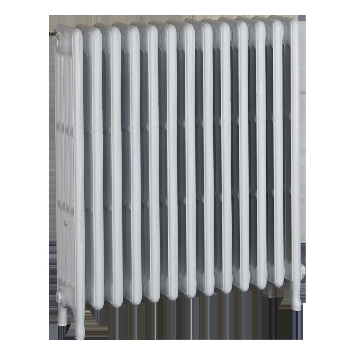 Ironworks Radiators Inc. refurbished cast iron radiator Shaftesbury in Semi-gloss white