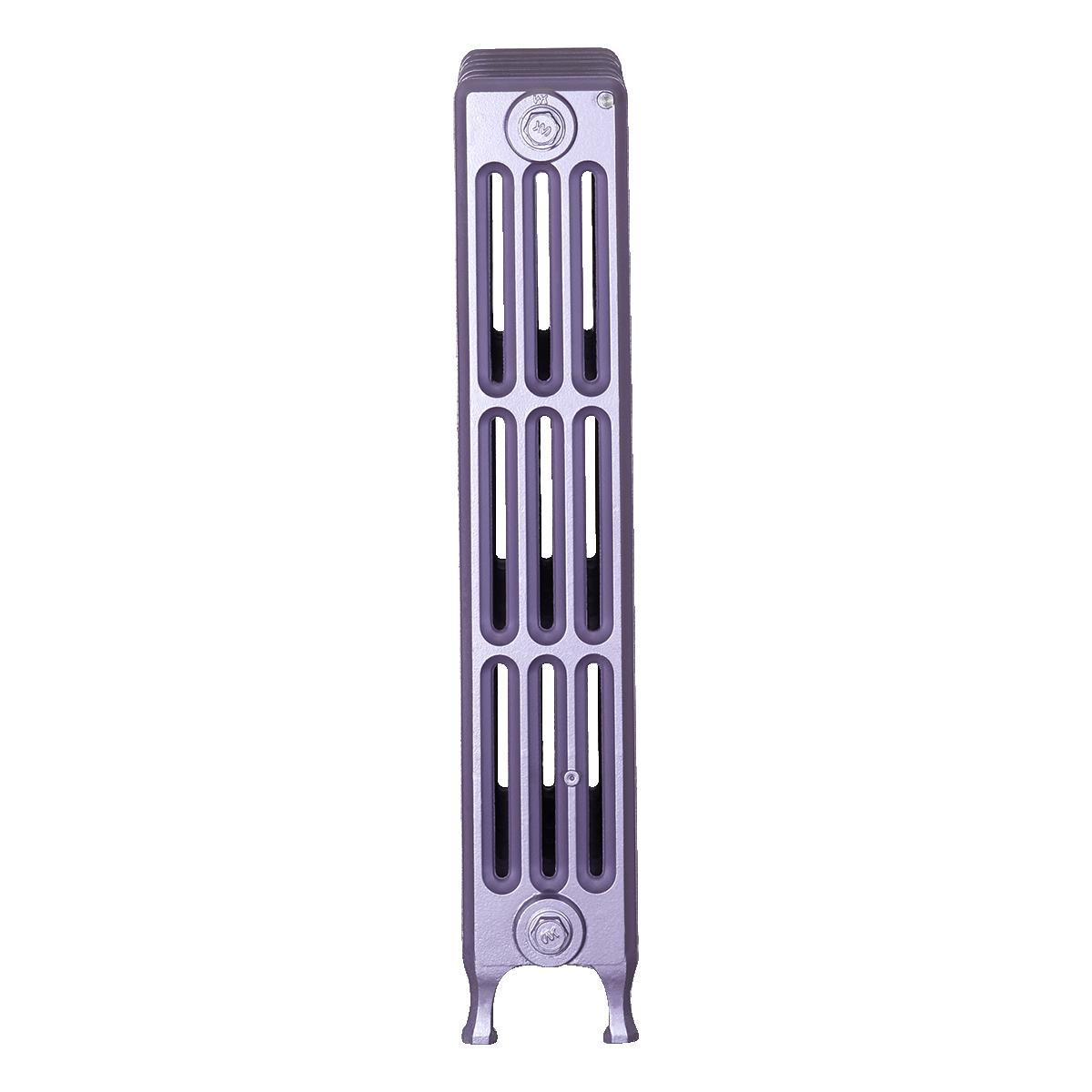 Ironworks Radiators Inc. refurbished cast iron radiator Summerbridge in Lilac metallic
