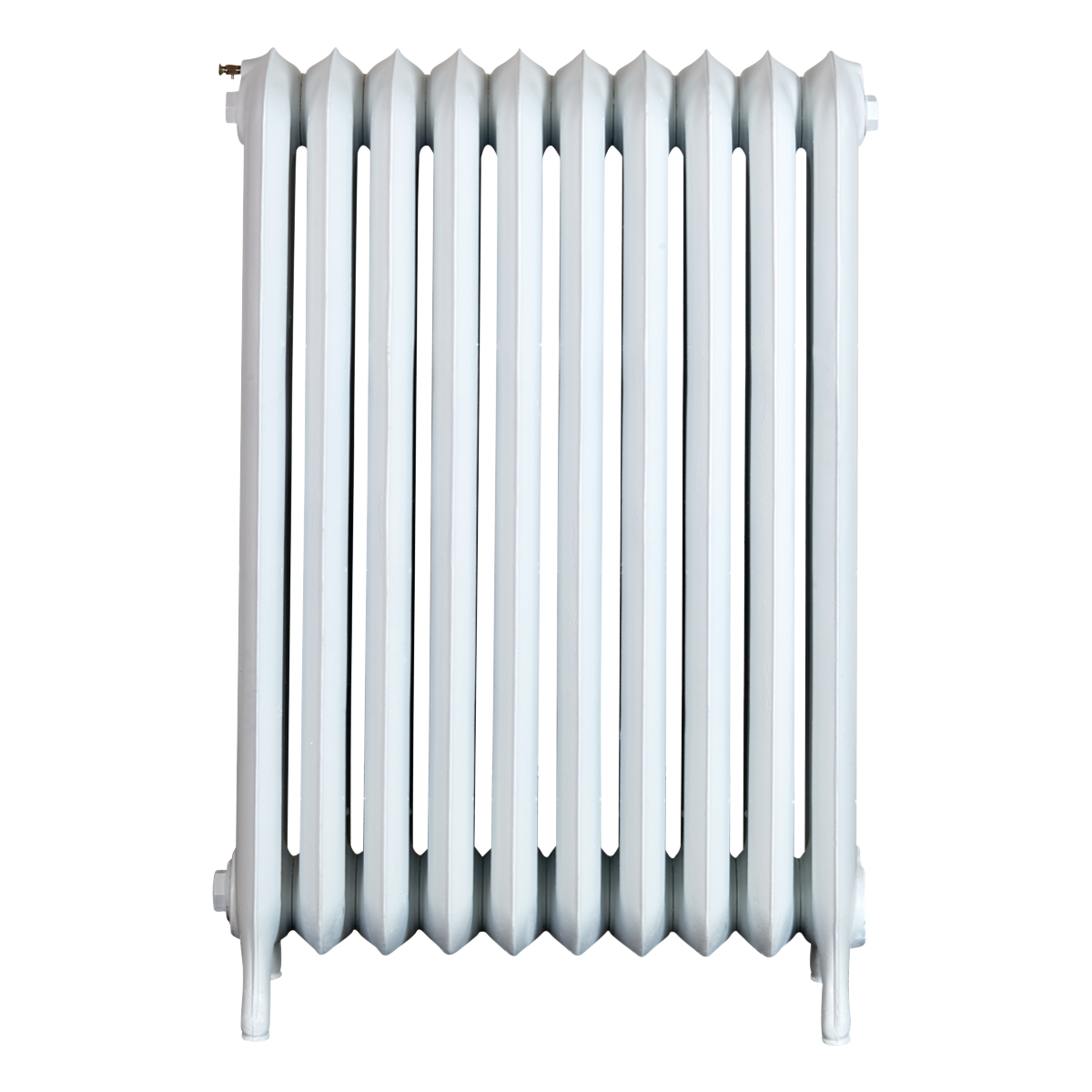 Ironworks Radiators Inc. refurbished cast iron radiator Yonge in Semi-gloss white