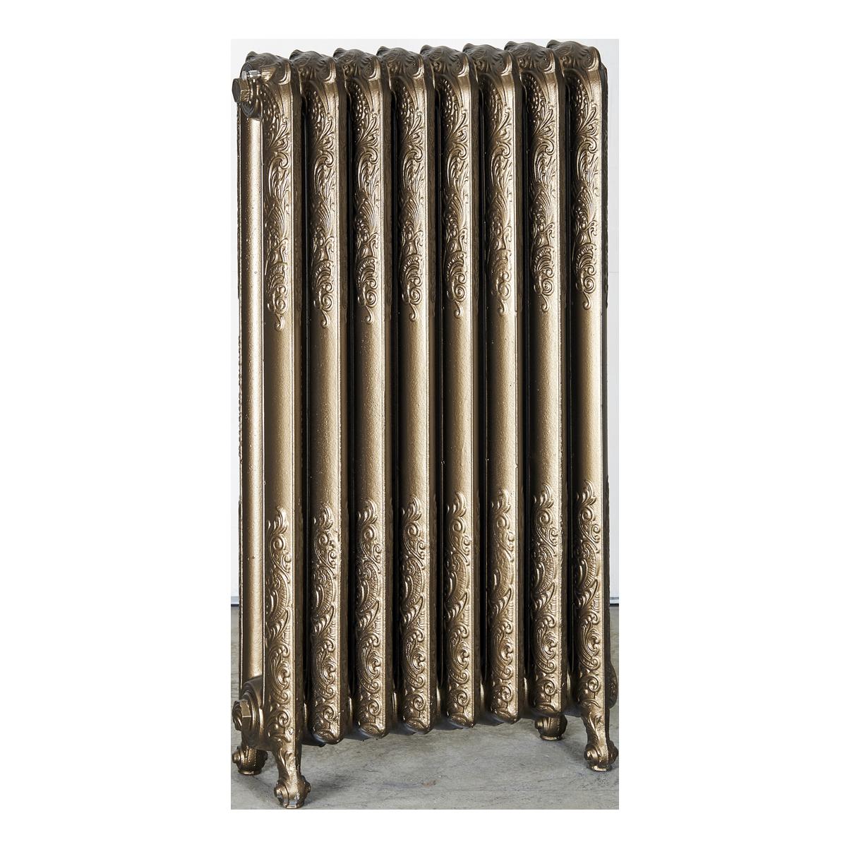 Ironworks Radiators Inc. refurbished cast iron radiator Earlscourt in Blackened Bronze metallic