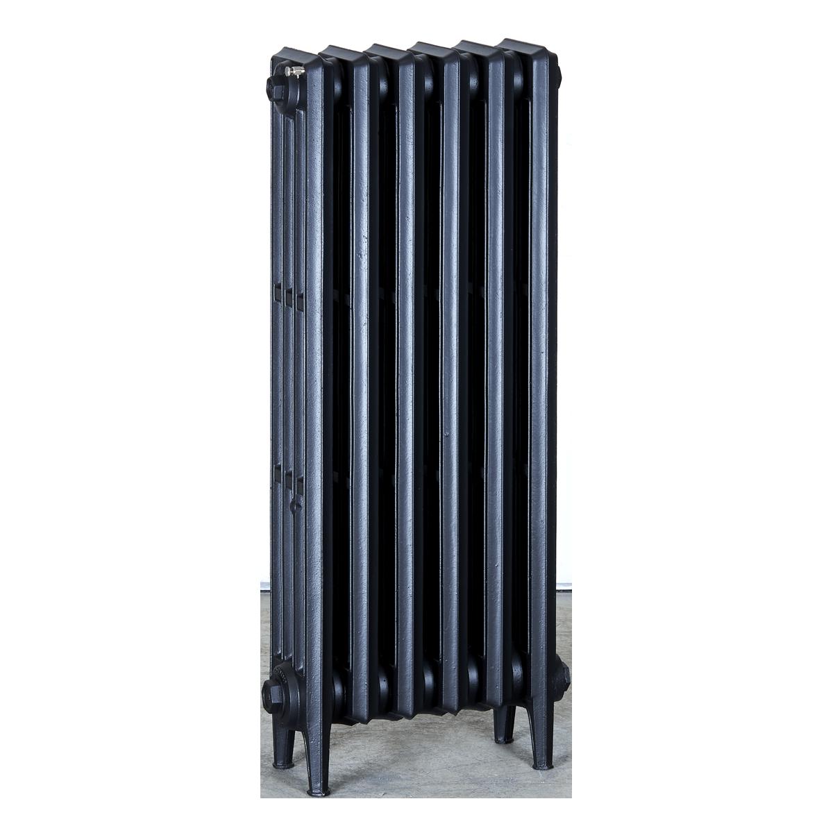Ironworks Radiators Inc. refurbished cast iron radiator Estelle in Matte Black