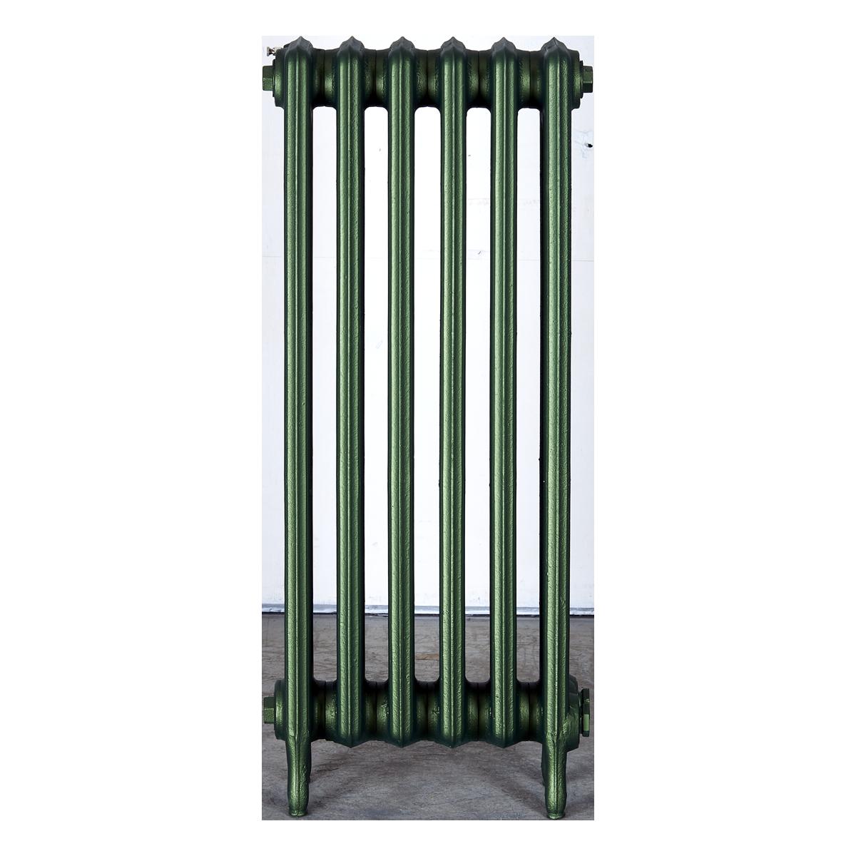 Ironworks Radiators Inc. refurbished cast iron radiator Havenlea in Hunter Green