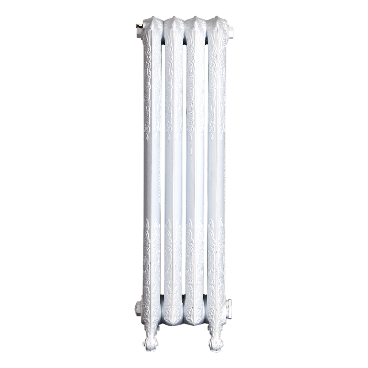 Ironworks Radiators Inc. refurbished cast iron radiator Lamberton in Semi Gloss White